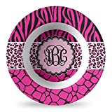 Triple Animal Print Plastic Bowl - Microwave Safe - Composite Polymer (Personalized)