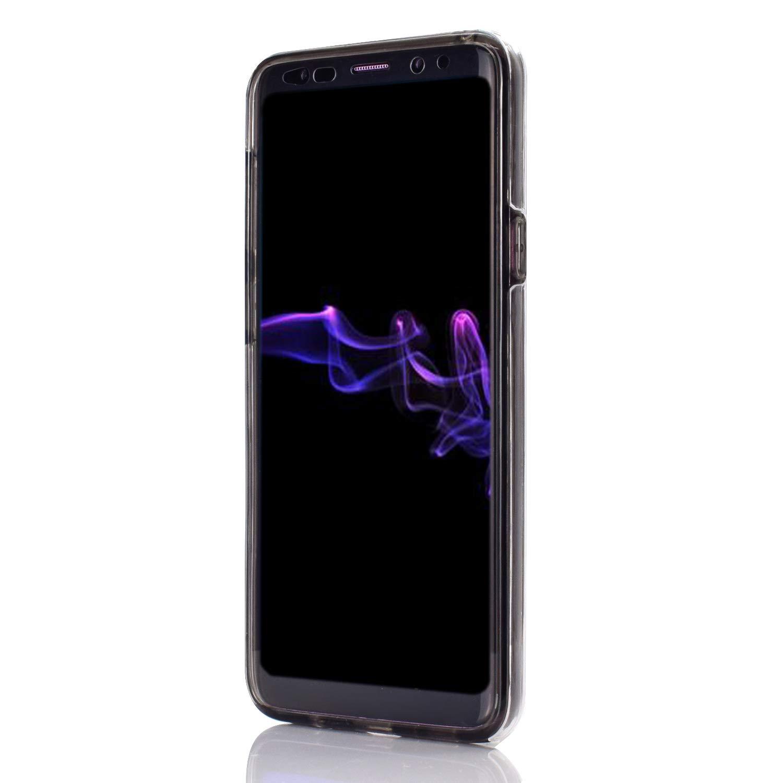 Coque pour Galaxy S9 360 Degrés Protection Complète, Misstars 2 en 1 Transparent TPU + PC Housse Etui Ultra Slim Cover Avant et Arrière Full Body Bumper Anti-Choc Anti-Scratch pour Samsung Galaxy S9, Or Rose