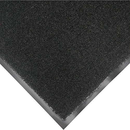 Rubber-Cal Tuff Plush Carpet Floor Mat - 3ft x 10ft - Black Indoor Door (Tuff Rubber)