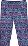 Coolibar UPF 50+ Kids' Wave Swim Capris - Sun Protective (Large- Pink/Blue Medallion Stripe)