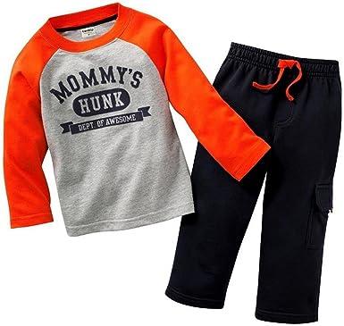 Oferta amazon: Coralup Chándales de camuflaje para niños pequeños + pantalones 2 piezas de algodón para niños conjuntos de ropa verde 5-6 años Talla 4-5 años