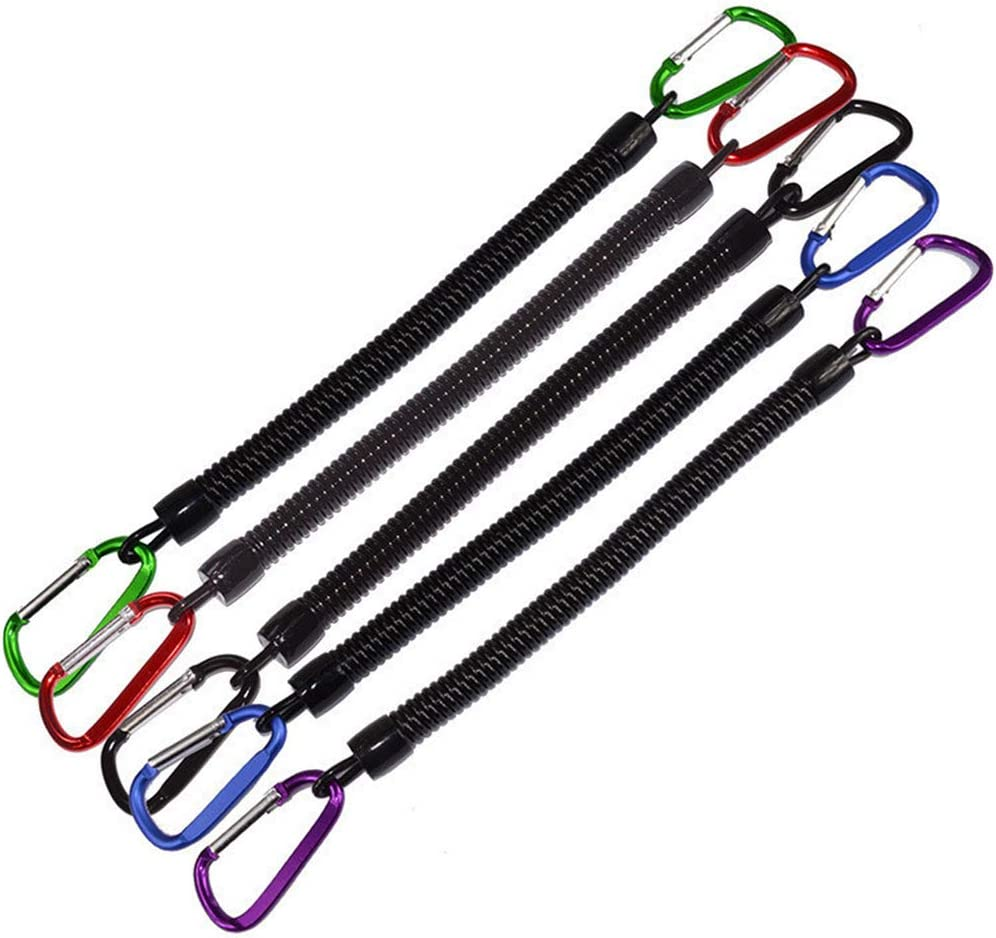 LIOOBO 2 Piezas de Cuerda de Pesca Cuerda de Seguridad Enrollable Retr/áctil Cuerdas de Acabado Llaveros con Clip para Acampar Al Aire Libre Color Aleatorio