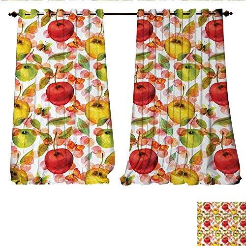 WinfreyDecor Cortina de Ventana con diseño de Cortinas de Frutas ...