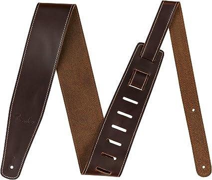 Fender Broken-In Leather Strap Green 2.5