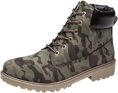 Cuir Lacets Imperméable Chaussures Bottes en à Boots Homme FJcl1K