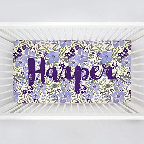 Carousel Designs Personalized Custom Lavender Floral Tropic