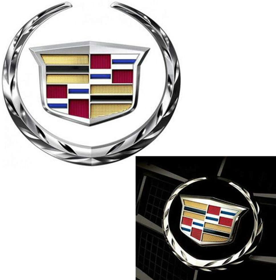 """Chrome Silver 4/"""" Turck Grill Grille 3D Emblem Badge Sticker for Cadillac"""