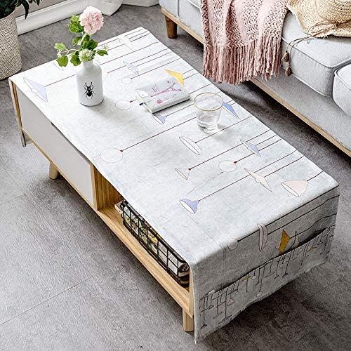 LYDCX Mesa De Centro Moderna Simple Mantel Sala De Estar Rectangular Gabinete De TV Cubierta De Tela Pano Algodon Gris 50X160Cm