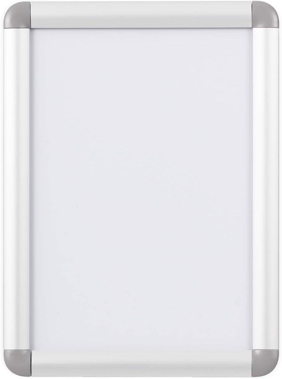 Bi-Office Curled - Marco expositor de aluminio rodeado, A4: Amazon.es: Oficina y papelería