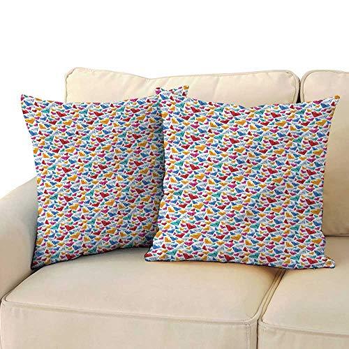 RuppertTextile Diamonds Living Room Sofa Hug Pillowcase Classical Cut of Rocks Mildew Proof W23 x L23