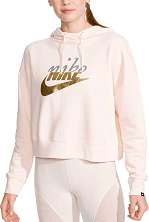 e2ed2cb24 Image Unavailable. Image not available for. Color: Nike Women's Metallic Rally  Hoodie ...