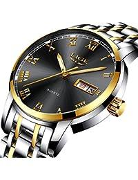 Mens Watches Fashion Sports Quartz Watch Stainless Steel...
