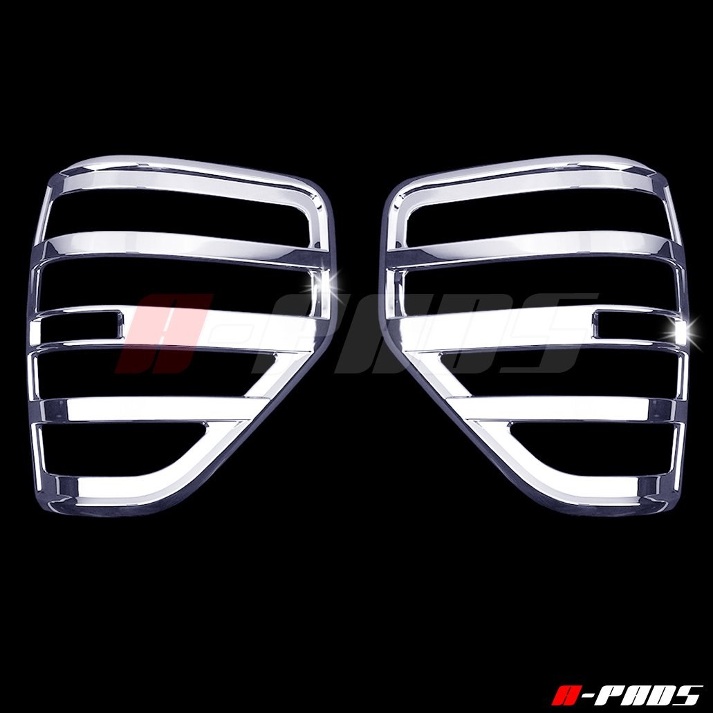 A-Pads 2 Chrome Tail Light Covers for Ford F150 2009-2014 - Chrome Bezel Lights Cover Pair ATF7204