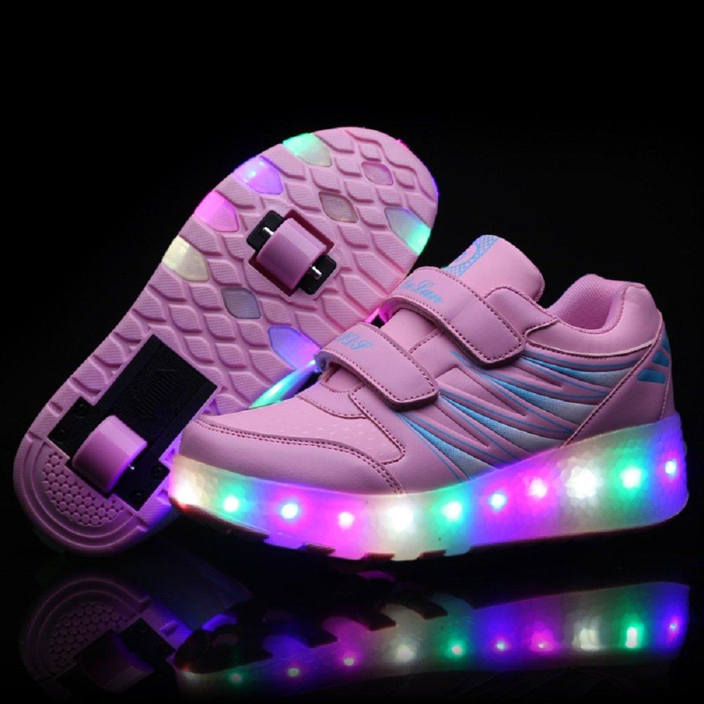 7 Color/és LED Chaussures Baskets pour Gar/çons et Filles Enfants Lumineuse avec Roue Chaussures de Sport❤❤❤ Viken Azer-UK ❤❤❤Chaussures /à roulettes