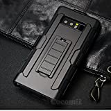 Galaxy Note 8 Case, Cocomii Robot Armor NEW [Heavy Duty] Premium Belt Clip Holster Kickstand Shockproof Hard Bumper Shell [Military Defender] Full Body Dual Layer Rugged Cover Samsung (Black)