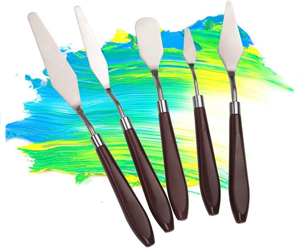 6PCS Plastique Couteau Poterie Sculpture et Grattoir à Peinture pour Artistes