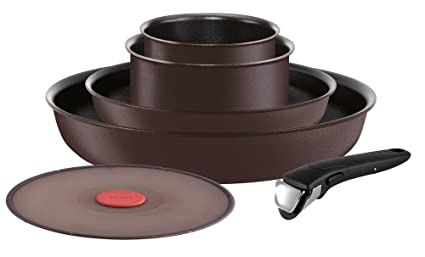 Tefal Set de sartenes/cacerolas de Aluminio Negro L6559802 Ingenio 5 Chef, Aluminio,