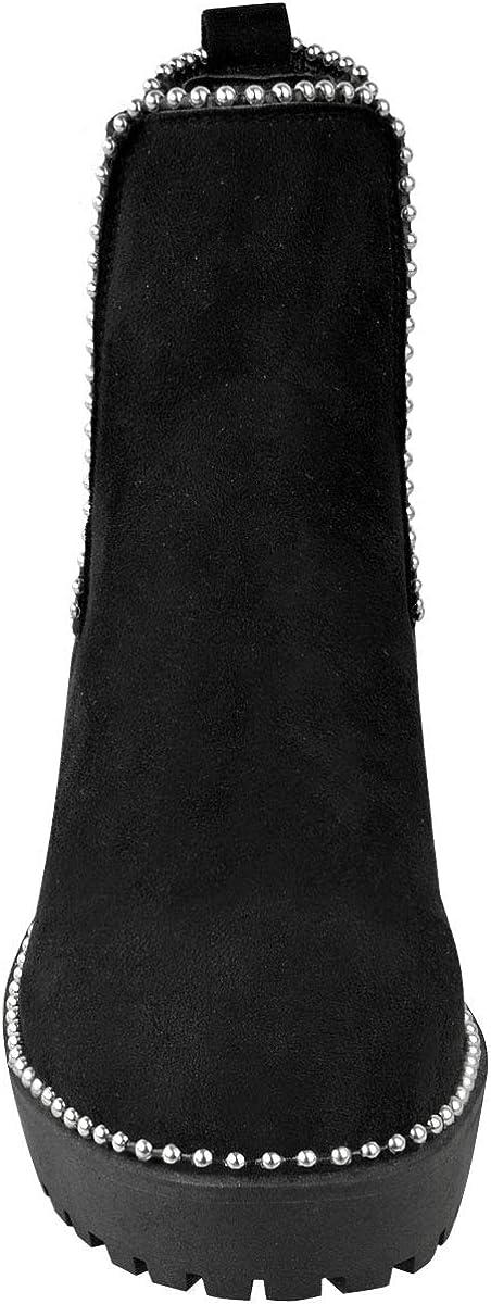 Perles Fashion Thirsty Bottines Plates /à Semelle /épaisse Femme Hiver