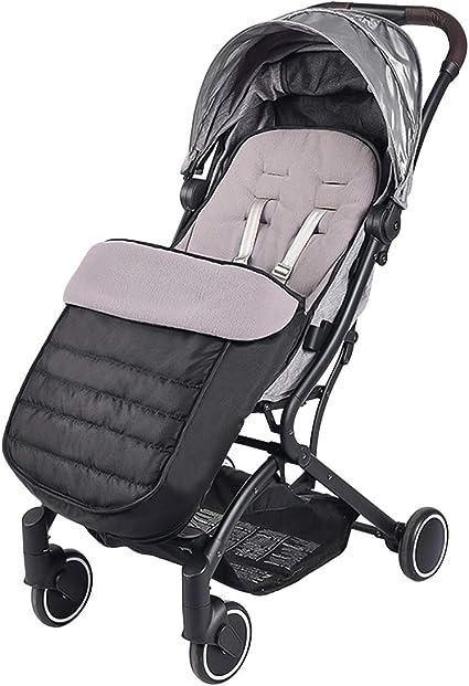 Noir SONARIN Universelle Premium poussette Chanceli/ère,imperm/éable et coupe-vent,Cosy Toes Doublure polaire,pour Poussette Landau Buggy