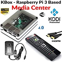 Raspberry Pi 3 Based - Extreme Media Center - White Case - Ir Remote - Kodi preinstalled