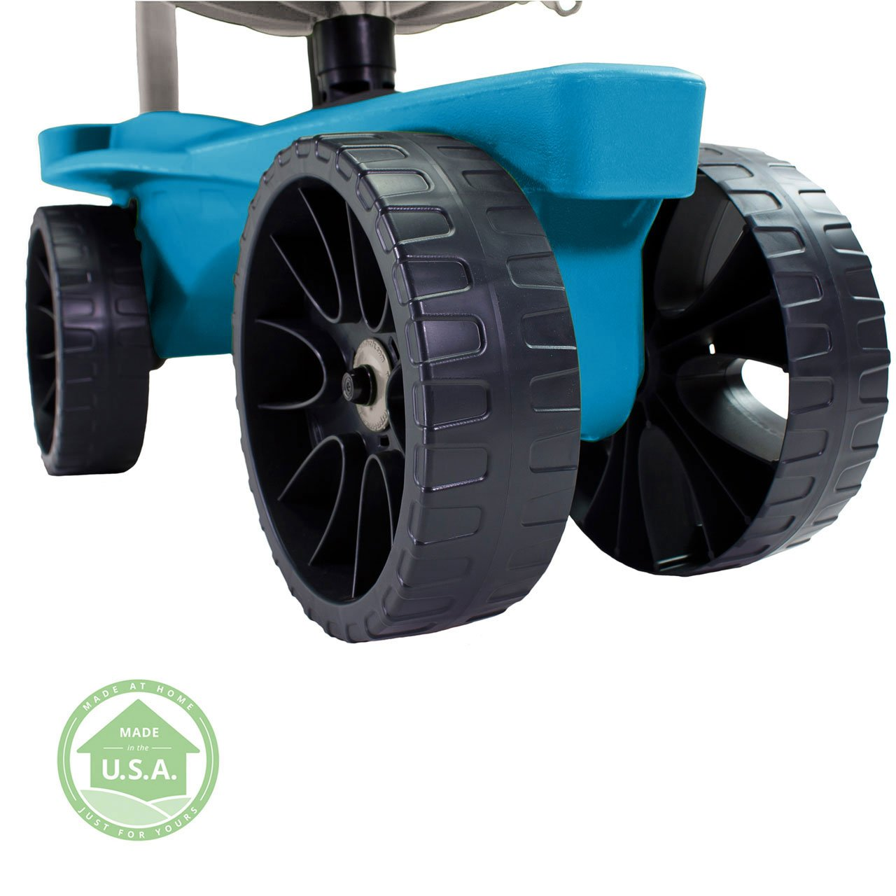 Easy Up Deluxe XTV Rolling Garden Seat and Scoot - Adjustable Swivel Seat, Heavy Duty Wheels, and Ergonomic Design To Assist Standing, Sitting, and Bending Over Made in the USA (Deluxe XTV Teal) by Vertex (Image #5)