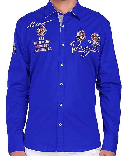 Redbridge Cipo & Baxx Herren Hemd Freizeithemd R-Style Designer Regular Fit mit Stickerei