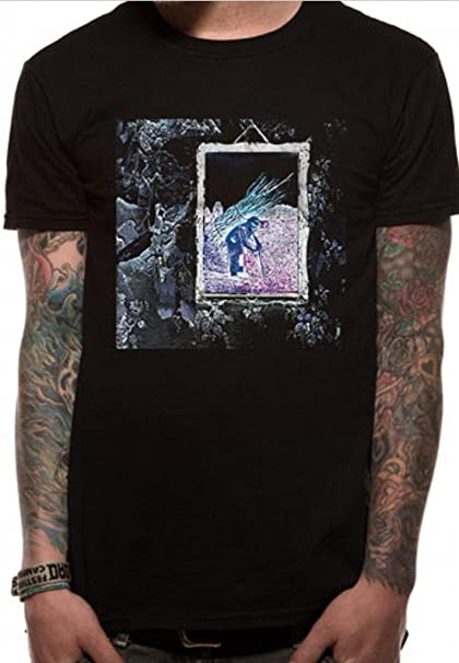 98e8265e7 Led Zeppelin IV Album Cover Rock Jimmy Page Official Tee T-Shirt Mens  Unisex (