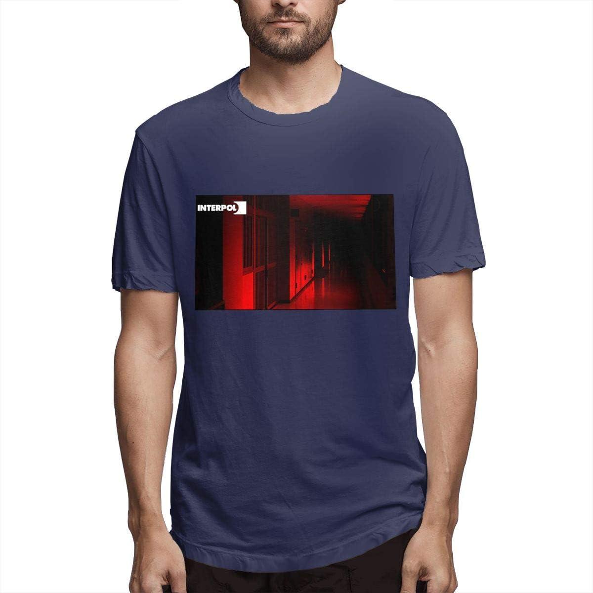 Patriciaanewbury Boy's Interpol Band Funny T-shirts Short Sleeves Navy