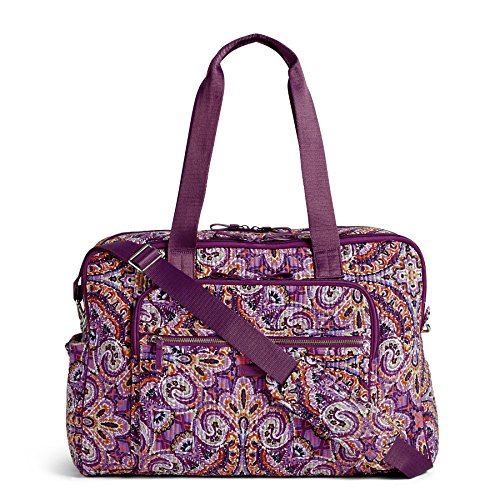 - Vera Bradley Iconic Deluxe Weekender Travel Bag, Signature Cotton, Dream Tapestry
