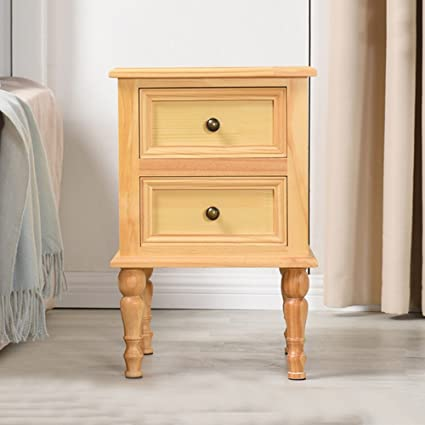 Amazon PM Nightstands Solid Wood Bedside Cabinet Locker Storage