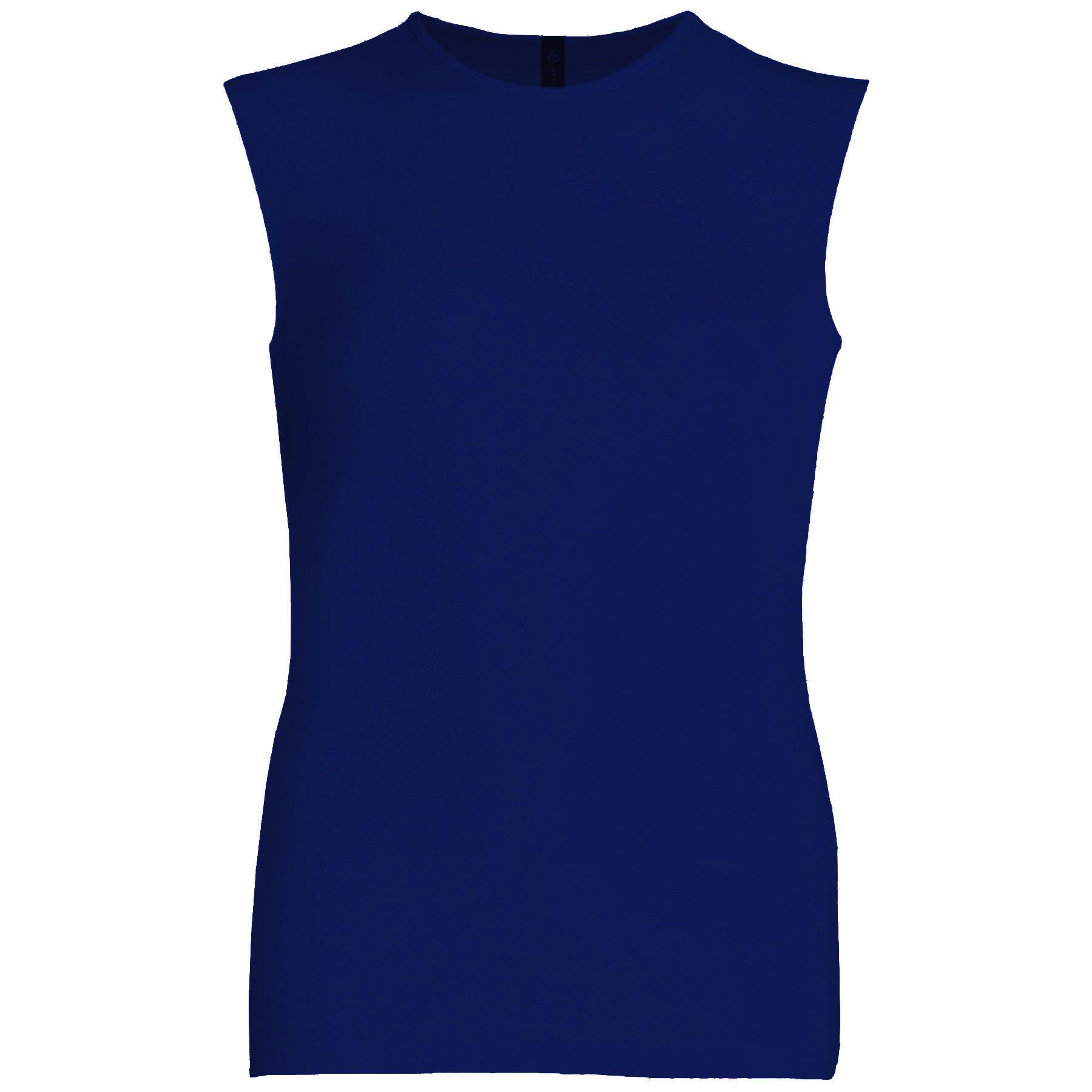 Esteez Womens Sleeveless Fitted Base Layering T-Shirt Navy XX-Large