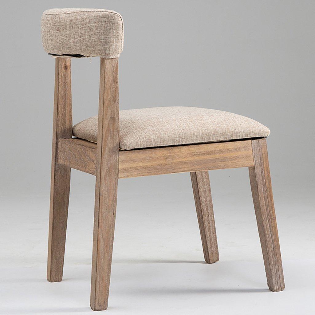 TJTJ シンプルな古い木製の椅子交換可能な椅子カバー純木ダイニングチェアコーヒーチェアレジャーチェア - 小さなスツール (Color : E)  E B07RR34BQG