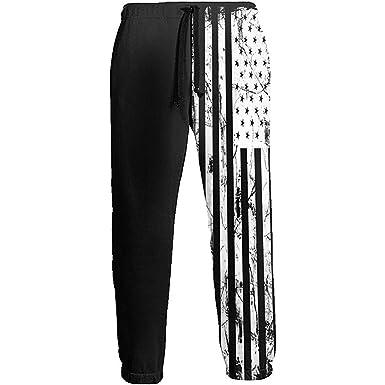Pantalones de chándal Negros y Blancos de la Bandera de América ...