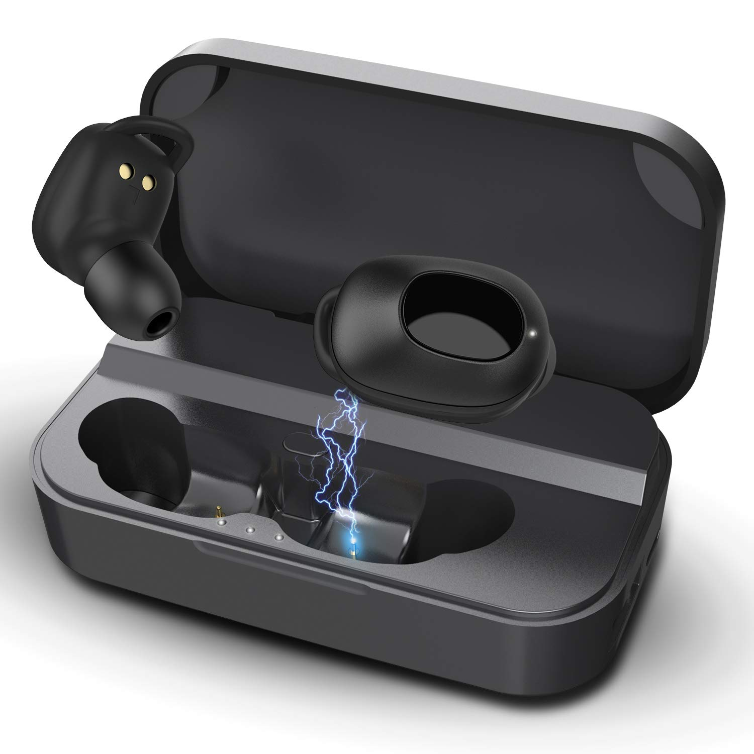 Wireless Bluetooth Earbuds V5.0, Muzili Cordless Earbuds Wireless Headphones 3000mAH Charging Case, Stable Connection, IPX7 Waterproof Workout Running Bluetooth Wireless Earbuds for iPhone Android