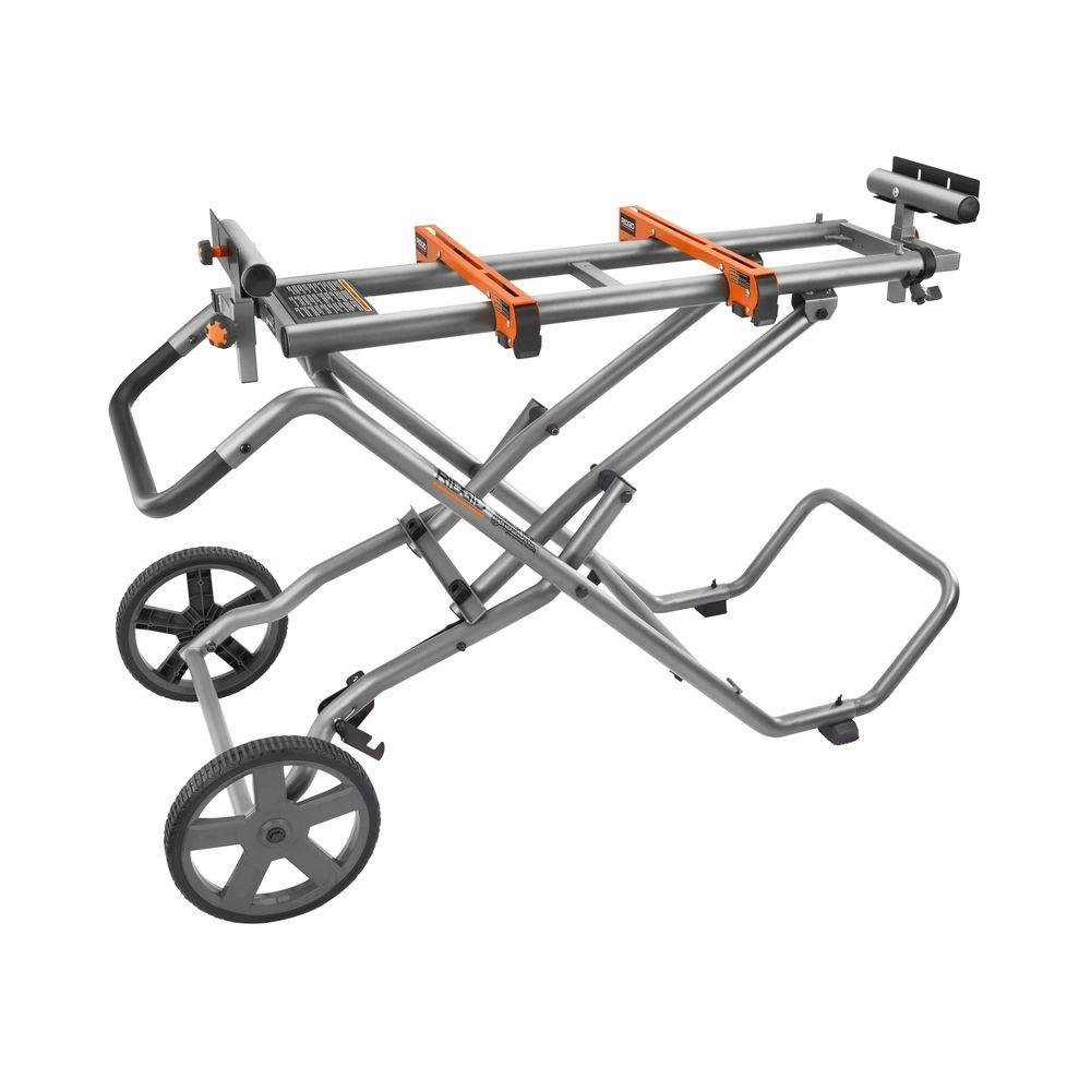 RIDGID AC9946 - Mobile Miter Saw Stand with Mounting Braces
