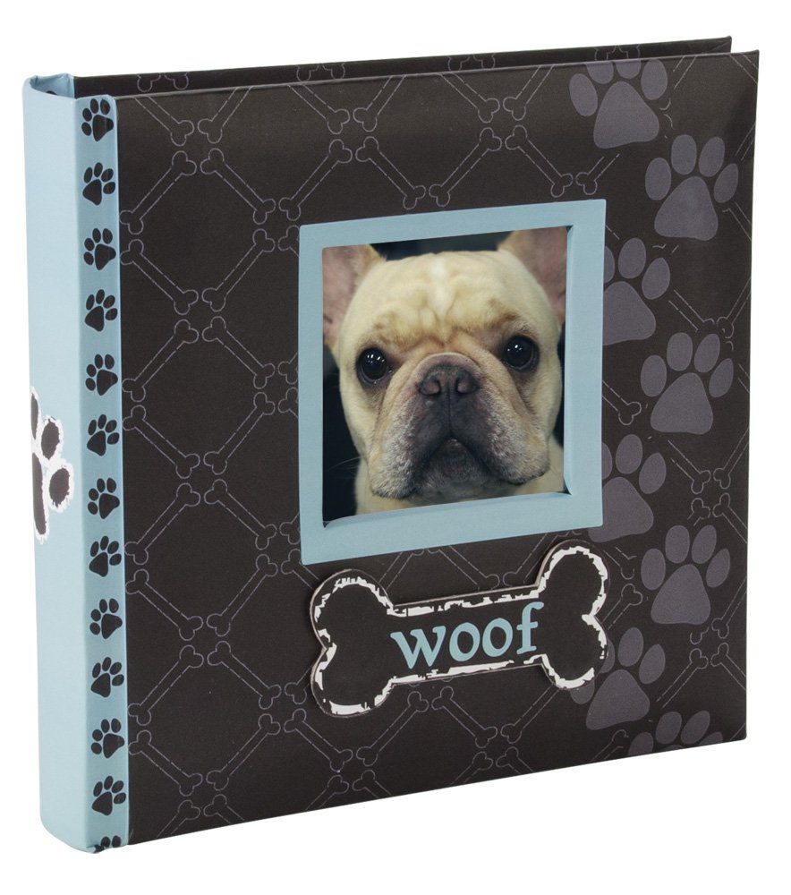 Malden International Designs Woof Album 1-Up Picture Frame, 4 by 6-Inch, Blue, Holds 80 Photos 7075-16