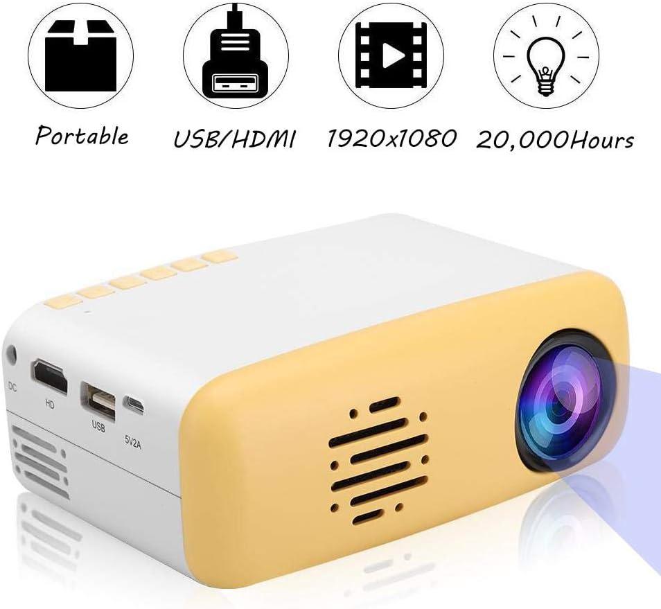 Mugast Mini proyector 1080P, portátil HD 1920 x 1080 LED ...