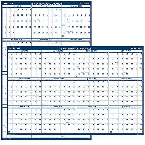 (o House of Doolittle o - Laminated Poster Style Reversible/Erasable Calendar, 24 x 37)