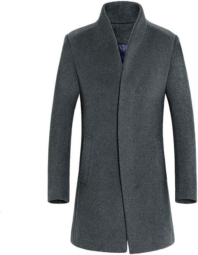 Herren Winterjacke Sakko Business Wolljacke Mantel Jacken Kurzmantel Trenchcoat