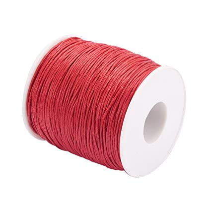 ef5d9dbbf5af Pandahall 1 rollo de 1 mm 100 yards hilo de algodón encerado cuerda de  abalorios para