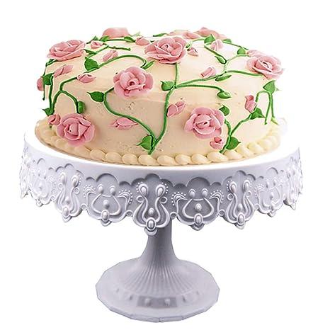 Amazon.com: YJIUJIU Soporte redondo para tartas de 9.0 in ...
