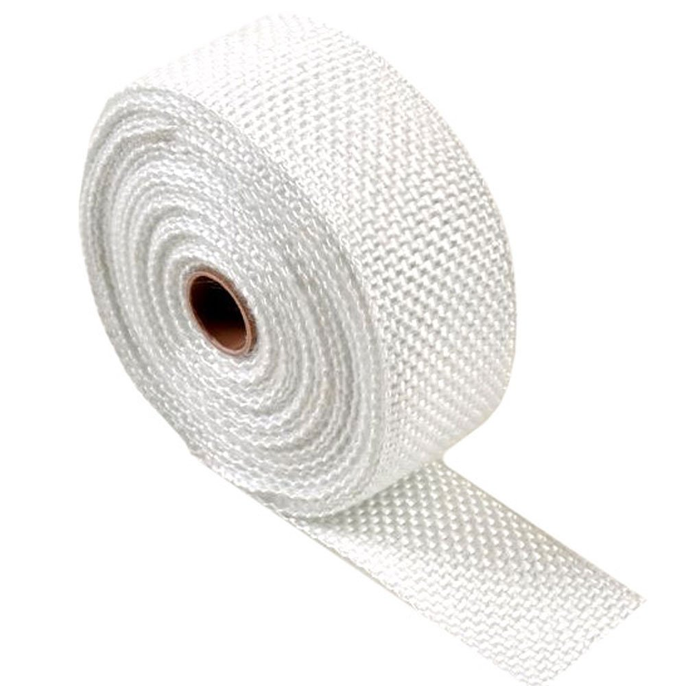 15m 25mm White Double Thick Exhaust Wrap - AutoSiliconeHoses