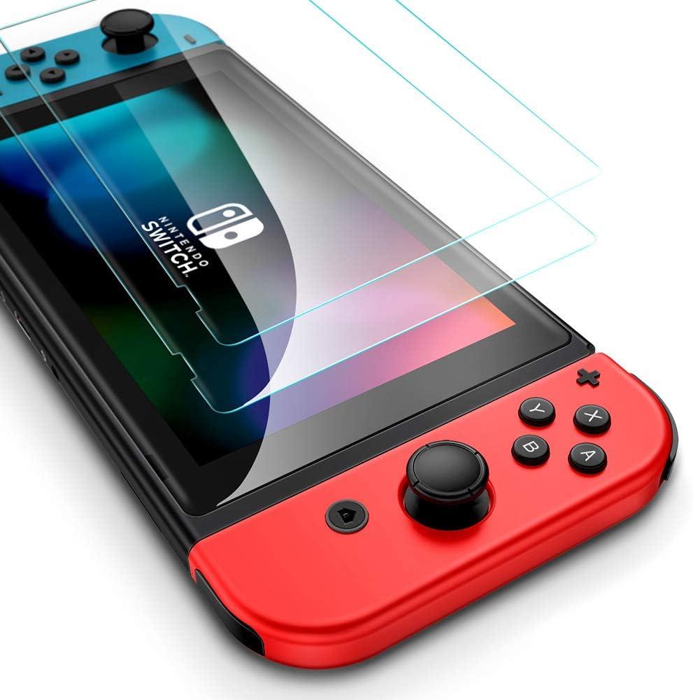 ESR Protector de Pantalla para Nintendo Switch [2 Piezas] [Resistente Hasta 5 kg de Fuerza] [Resistente a los Rayones] Película protectora de Vidrio Templado de Alta Calidad para Nintendo Switch