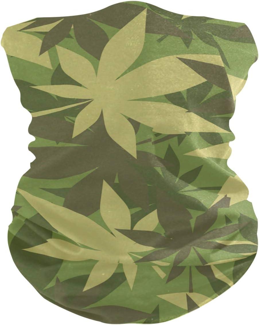 yoga pesca pa/ñuelo m/ágico para la cabeza bandanas para el cuello ISAOA pasamonta/ñas motociclismo M/áscara de marihuana con textura militar para mujer
