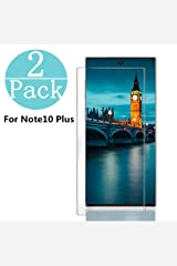 [2-Pack] Samsung Galaxy Note 10 +/Note 10 Plus Tempered Glass Screen Protector, Anti-Scratch, Bubble Free and Case Friendly, 3D Curved Edge Compatible Note 10 +/Note 10 Plus Wireless Phone Accessory