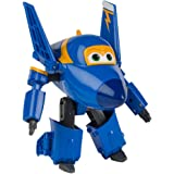 Super Wings Personaje Transformable Jerome, 15 cm, Color Azul y Amarillo (ColorBaby 75874)