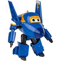Super Wings - Personaje transformable Jerome, 15 cm, color azul y amarillo (ColorBaby 75874)
