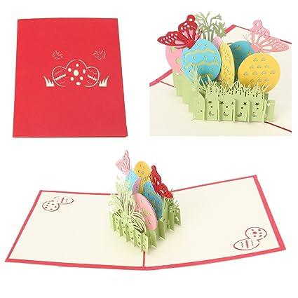 Arich 3d Mariposas Tarjeta de felicitación Pop Up papel ...