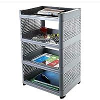 Divyata mall Plastic 4 Layer Book Storage Display Rack Shelf Organizer (Multi Color)