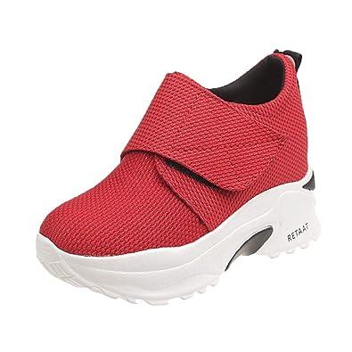 OHQ Zapatillas Deportivas Moda Mujer Casual Plataforma Gruesa Zapatillas De Running SeñOra Zapatos Planos: Amazon.es: Zapatos y complementos